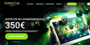 Gaming Club Casino Homepage