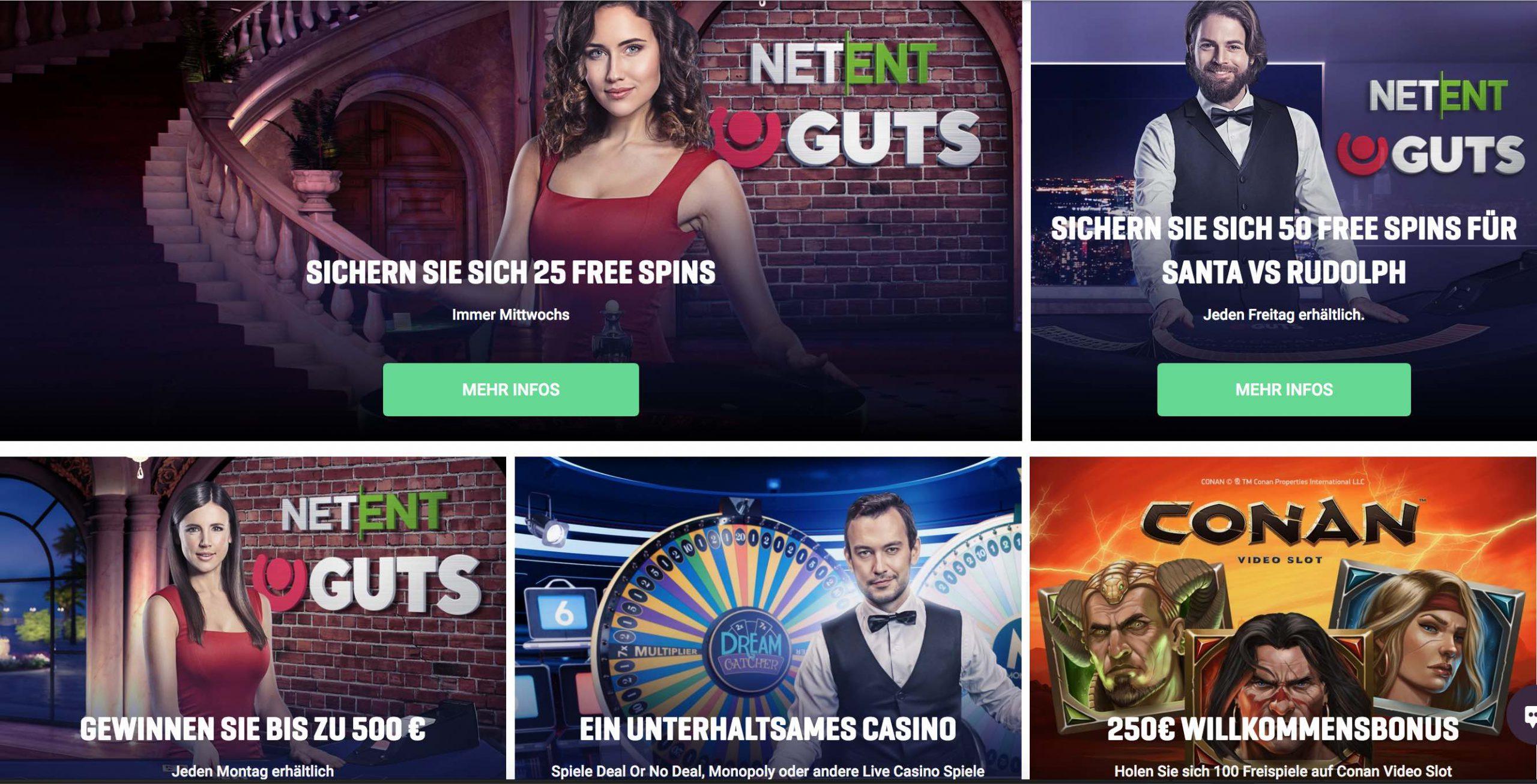 Guts Casino Bonus Angebote und Willkomensbonus