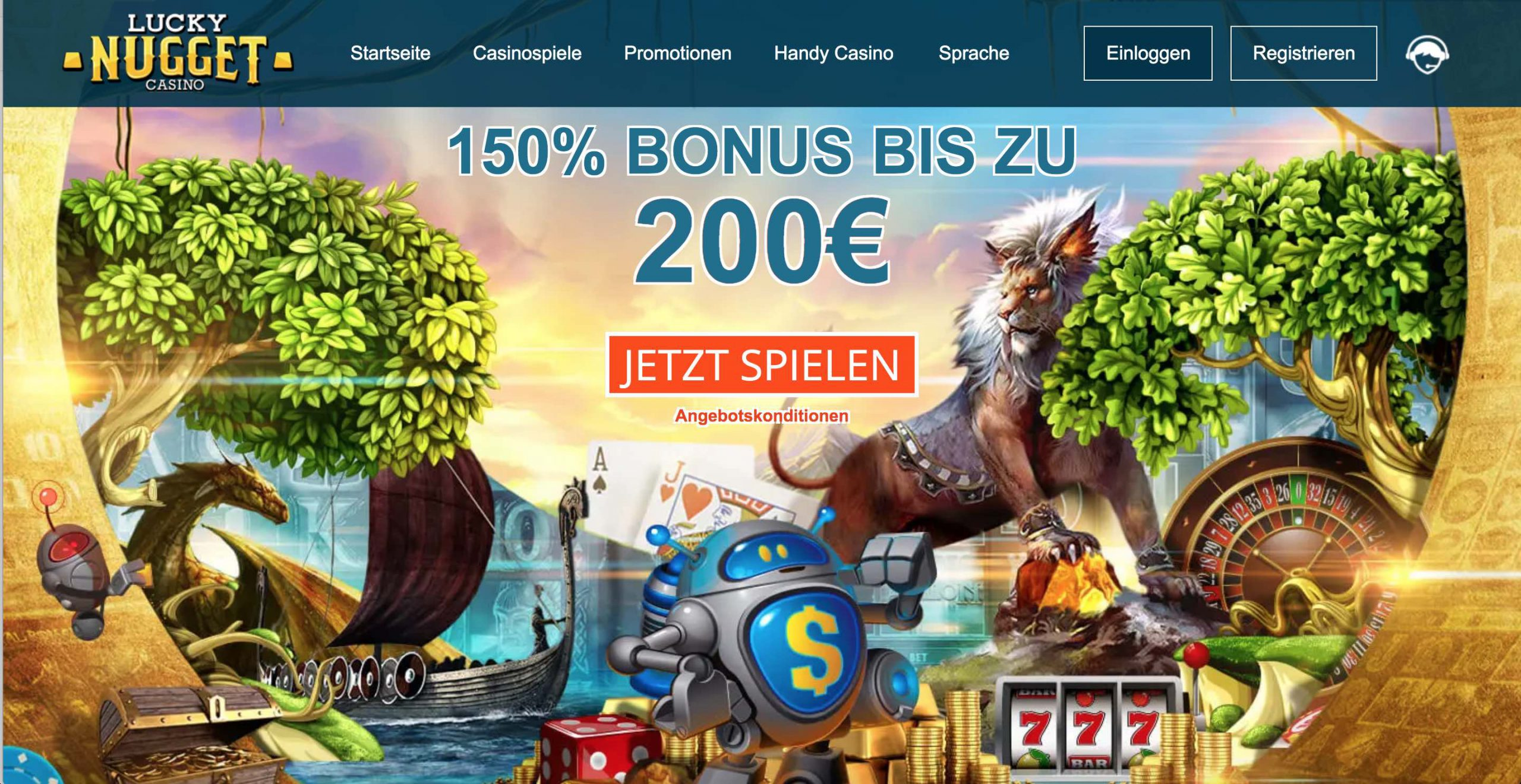 Lucky Nugget Erfahrungen - Lucky Nugget Casino Bonus Bis Zu 200 €