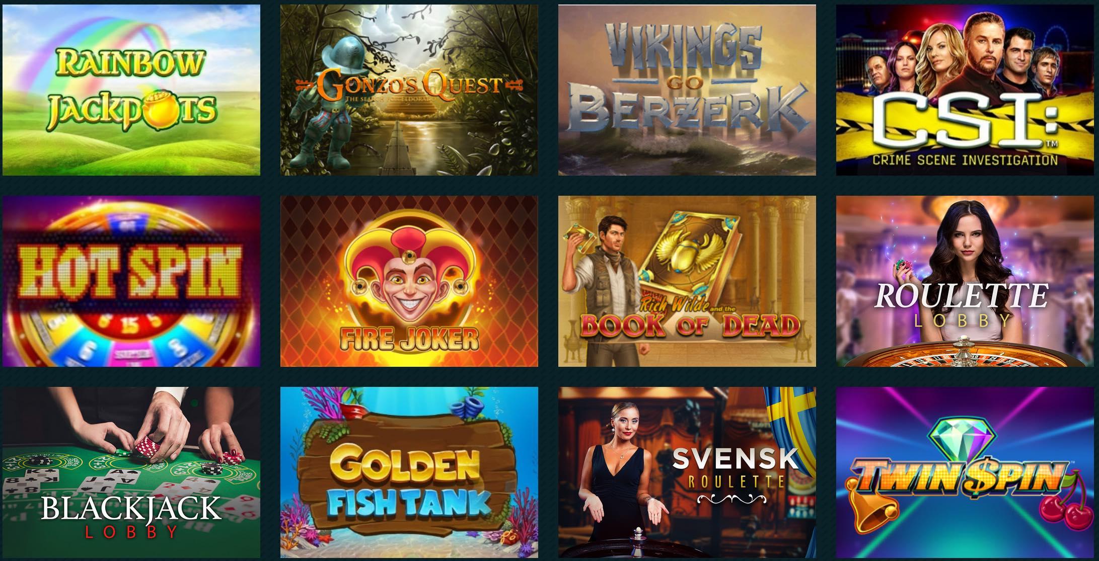 Spela Casino Spiele