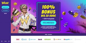 Wildz Casino Webseite