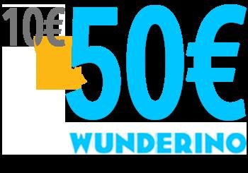 Wunderino - 10 Euro einzahlen und mit 50 Euro spielen