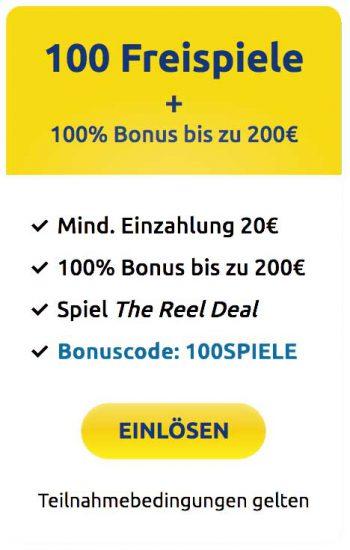 DrückGlück Willkommensbonus 200 Euro +100 Freispiele