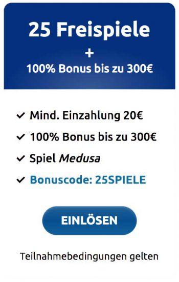 DrückGlück Willkommensbonus 300 Euro + 25 Freispiele