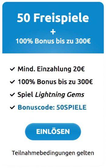 DrückGlück Willkommensbonus-300 Euro +50 Freispiele