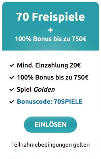 DrückGlück Willkommensbonus 750 Euro +70 Freispiele